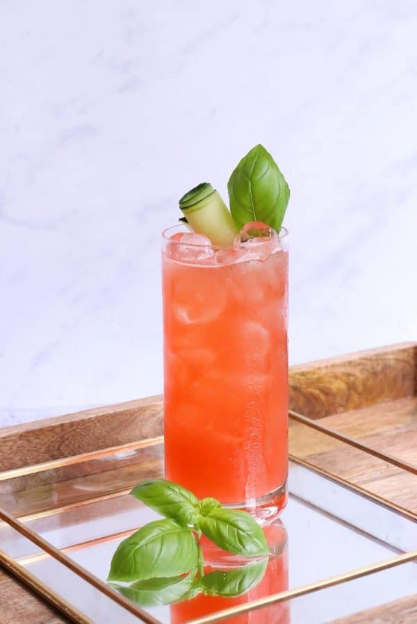 Basil used in refreshing drink